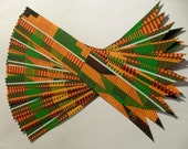 Various Sets of Kente Ribbon Bookmarks - Select Your Quantity