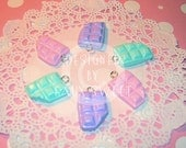 Pastel Chocolate Bar Charms -  Choose from 6 Colors