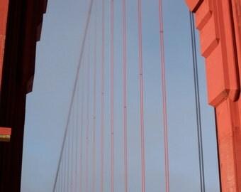 San Francisco Golden Gate Bridge Wire Detail - 8x12 Travel Fine Art Photograph