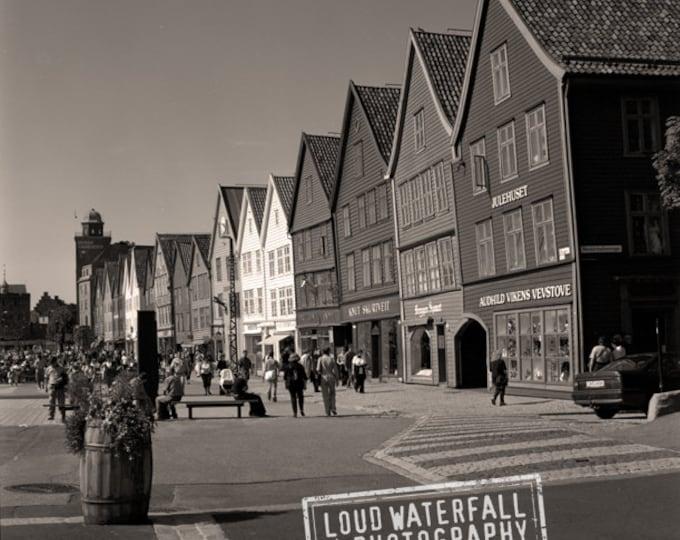 International Travel, Norway, Historic 19th Century, Old Bergen Architecture 8x8 10x10 12x12 20x20 Fine Art Photograph