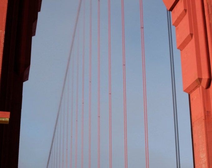 San Francisco Golden Gate Bridge Wire Detail - 8x12 Travel Fine Art Photograph