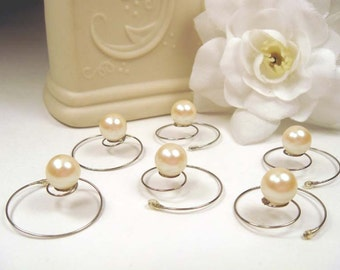 Beautiful Champagne/Ivory 8mm Pearl Hair Twists Spins Spirals
