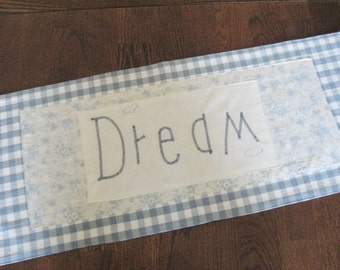 Table Runner Dream Country Blue and White Check Small  Dresser Scarf Home Decor