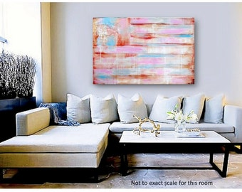 American Flag ABSTRACT Original Painting - Custom made Modern Paintings on Gallery Wrapped Canvas - Made to Order