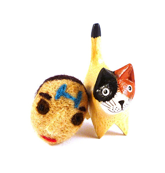 Rimmer Red Dwarf Catnip Cat Toy - Needle Felted Wool