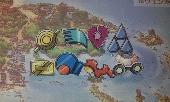 Hoenn Badges - Pokemon Ruby/Sapphire/Emerald/OmegaRuby/AlphaSapphire Cosplay