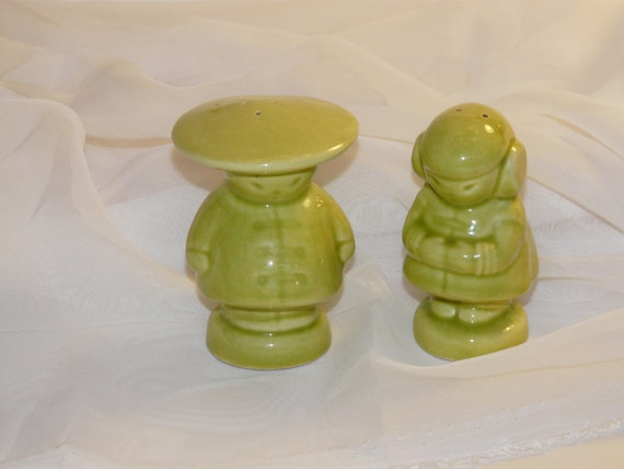Gibson Pottery Asian Figural Salt and Pepper Shakers