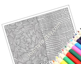 Coloring Printable Page, Very Intricate Zentangle Inspired Pattern, Zendoodle Page 39