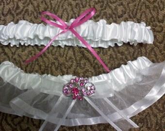 sheer satin garter set