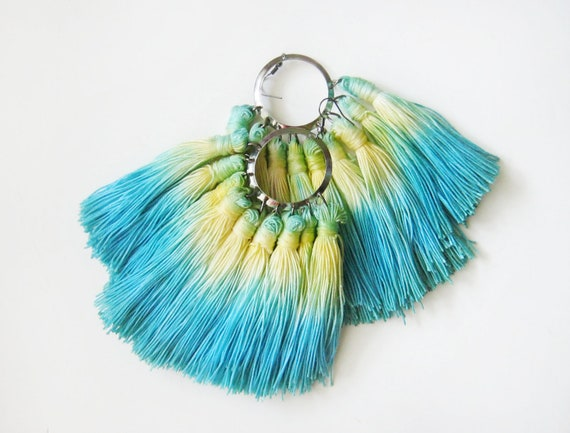 Dream - hand dyed earings /murMur