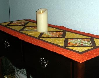 Fall Colors Diagonal Square Long Table Runner