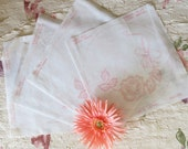 Doilies Wall Art Fabric Painting Round Rose