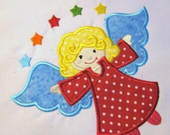 Angel 01 Machine Applique Embroidery Design - 4x4, 5x7 & 6x8