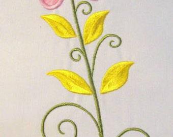 Vintage Flower 03 Machine Applique Embroidery Design - 5x7 & 6x8