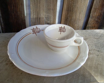 IHOP - International House Of Pancakes Restaurant Ware Plate And Cup Pair
