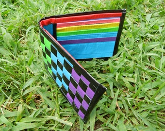 Rainbow Woven Duct Tape Wallet