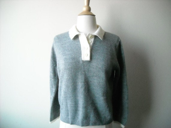 Vintage Grey and White Sweater