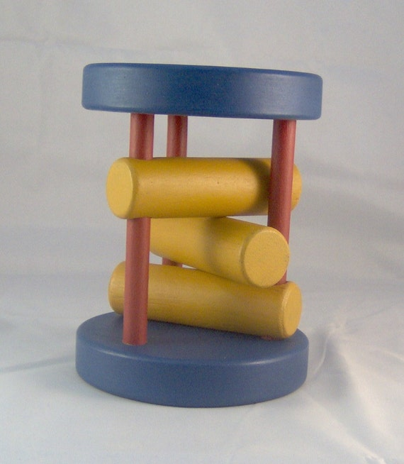 Wooden Rolling Toy & Rattle