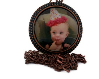 Custom Photo Necklace, Custom Photo Pendant, Childrens Photo, Kids Picture Jewelry, Personalized Jewelry, Childs Photo
