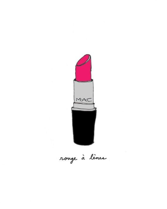 Perfect Lipstick - 8x10 Illustration Art Print