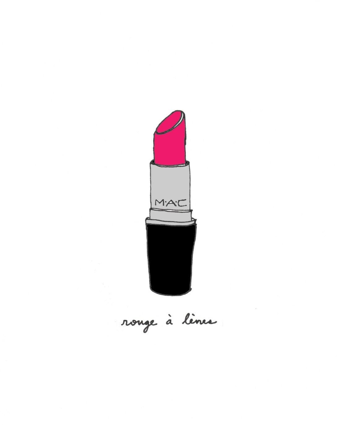 Perfect Lipstick 8x10 Illustration Art Print by CocoDraws ...