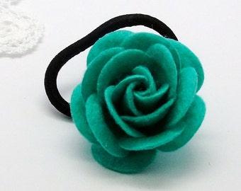 Rose ponytail holder/hair tie
