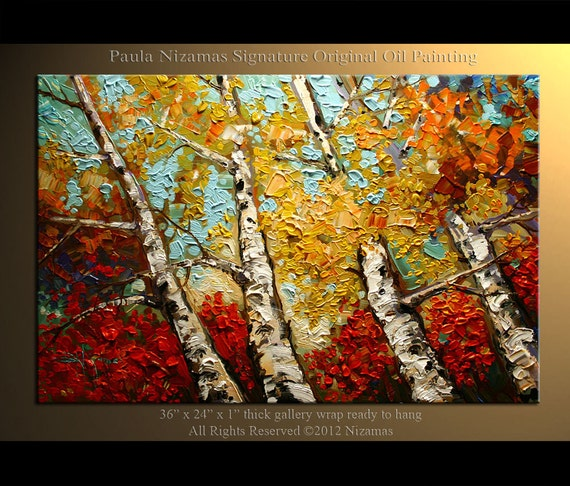 Oil Paintings of Birch Trees Oil Painting Birch Trees