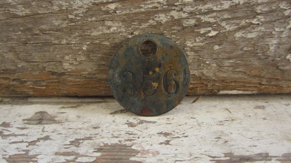 Brass Tag Number 356 Vintage Token Coal Mining Pit Checks Industrial Tool