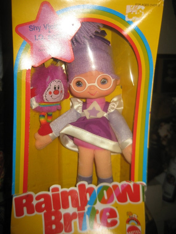 Vintage Rainbow Brite Doll - 1983 Mattel Shy Violet and IQ Sprite - New In Box