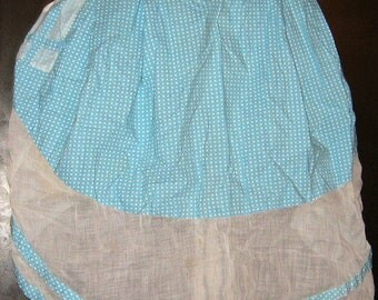 Vintage 1950s Apron/ Blue/ Stars/ Rockabilly Housewife/ VLV