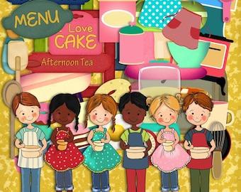 Cooking scrapbook, children scrapbook, Kitchen scrapbook, recipe scrapbook, Instant Scrapbook, Digital Scrapbook