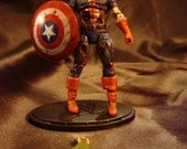 MARVEL ZOMBIES Captain America custom figure 3.75""