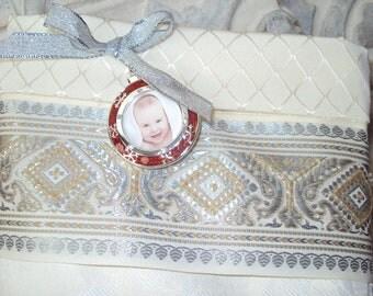white damask Beautiful Cream and ivory christmas stocking   weddings  anniversarys shower gifts  tapestry