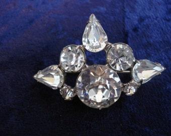 Uncommon  Style Rhinestone Brooch Clear Austrian Crystal