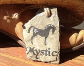 Personalized Horse Ornament on Recycled New Orleans Roofing Slate