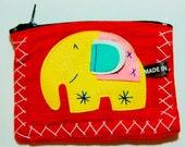 Elephant Bag Coin Purse Thai Handmade ( Thailand )