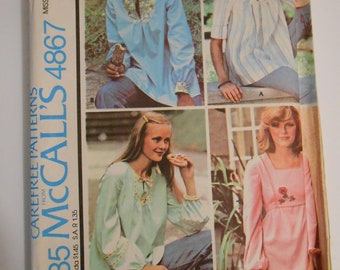 McCall's 4867    size small   10-12