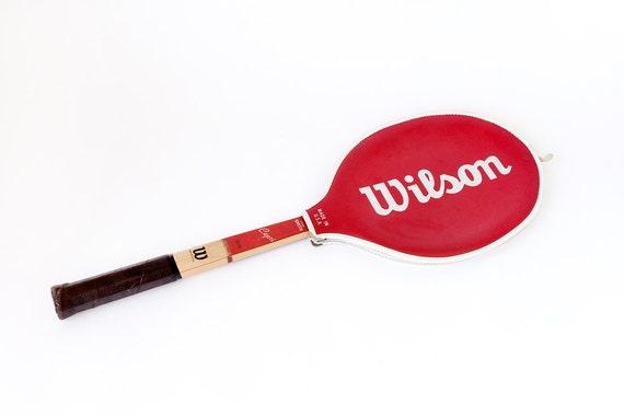 Vintage Wilson Wooden Tennis Racket Stan Smith Capri Woodies Retro Sports