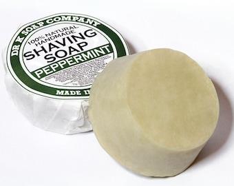 Peppermint Shaving Soap, All Natural, Vegan, Handmade in Ireland