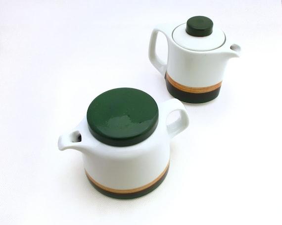 Vintage Set Porcelain pots, Unique Vintage Kitchen Set, Porcelain Tea Set, Coffee Set