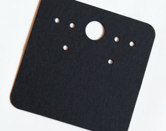 High Qualty Card Stock Blank Black Earring Card for Jewelry and Accessories 100pcs