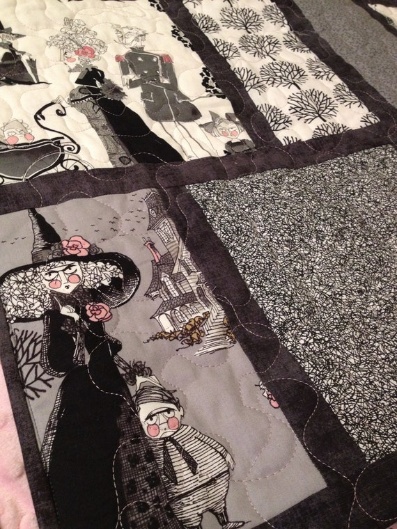 Queen Size Quilt Gothic Ghastlies Handmade By Quiltyninja
