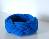 Fabric Bracelet - Thick Braided Tshirt Cuff - By LimeGreenLemon