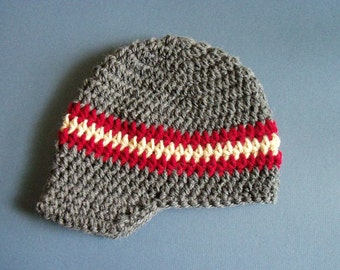 Crochet Visor Hat, Baby Visor Hat, Newborn Hat, Newsboy Baby Boy Hat - Made To Order