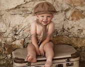 Baby Boy Neck Tie and Newsboy Hat. Classic Photo Prop or addition to any outfit