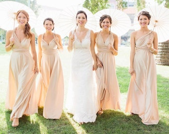 The ONE Dress multi wrap infinity wear LONG convertible bridesmaids dress