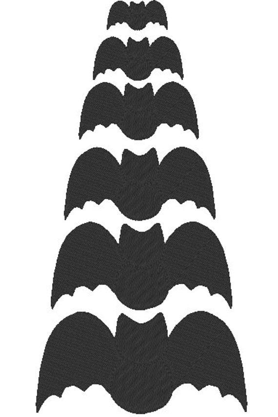 Bat filled Embroidery design