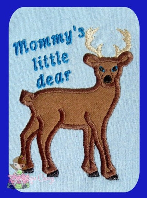 2 designs Mommy's little dear and Granny's little dear Applique design