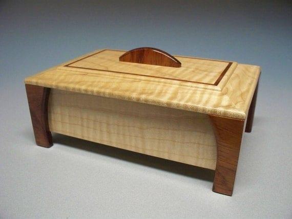 Maple & Bubinga Collectibles Box - Lacquer Finish