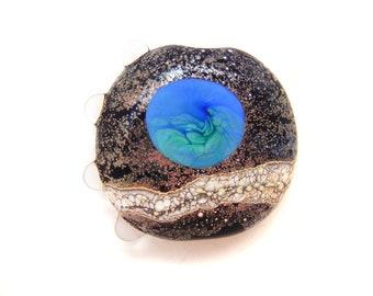 Blue Planet Lampwork Focal Bead SRA